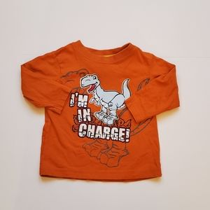 George I'm in Charge Long Sleeve Tee 12 Months